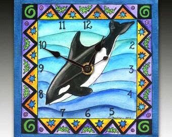 Orca Whale Clock