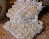 Fancy Eyelet Edged Washcloth Crochet Pattern - Dishcloth Crochet Pattern - Mini Popcorn Crochet - Touch of Downton Abbey Crochet Pattern