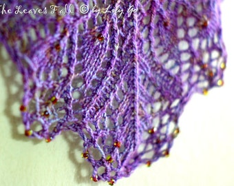 When The Leaves Fall Knitting Shawl Pattern in PDF