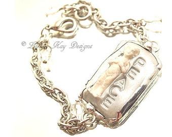 Peace Frozen Charlotte Bracelet Tiny Charlotte Soldered Bracelet Lorelie Kay Original