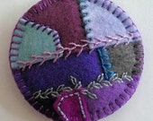 Custom Order for DTwodoors - Tiny Embroidered Felt Patchwork Pillow