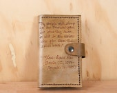 iPhone Case 5 5c 6 6+ - Personalized Leather iPhone Case - iPhone Wallet - Smokey pattern with custom inscription - Brown leather