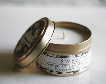 no. 635 - sweet mint hand poured soy candle
