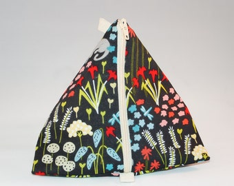 Mini Triangle Notions Pouch -  Forest