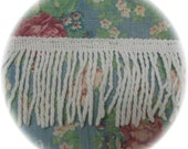 Creamy White Bullion Vintage Chenille Bedspread Quilt Trim Fringe 2 yards 28 inches  Off White 2 Pieces each 1 yard 14 inches