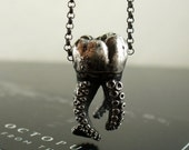 VDay SALE SALE - Wisdom Tooth Tentacle Pendant by OctopusME