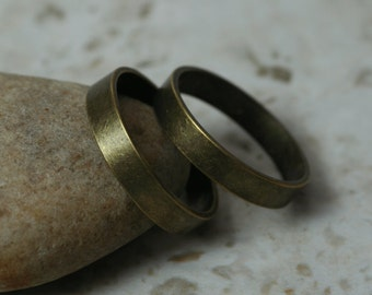 Antique brass band ring blank, one piece (item ID FA00098AB)