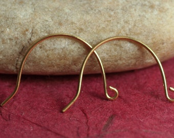 Solid brass earwire size 20x14mm, 20g thick, 20 pcs (item ID SHEWRB)