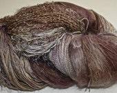 Hand dyed yarn, Biggie, Terra Firma colorway, wool, silk, nylon