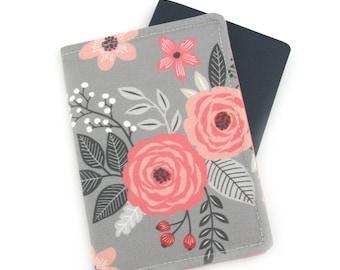 Blush Bloom Floral Passport Cover, Passport Holder, Passport Wallet, Passport Case, Travel Gift