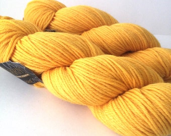 Yellow wool yarn - destash - wool yarn - free shipping