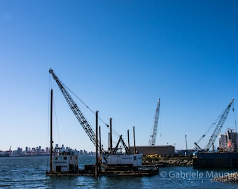 Photography / A crane with a view //  instant download / jpg file / home decor / wall art / North Vancouver / screen saver