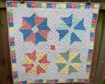 1930's Reproduction quilt table topper baby