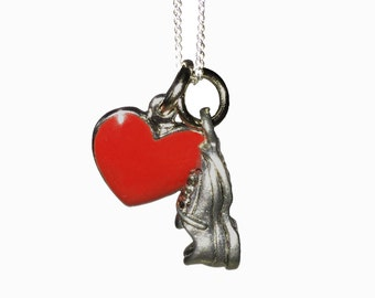 I HEART Running Charm Necklace