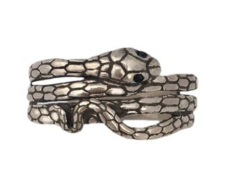 SNAKE RING jewelry serpent silver gold Coiled