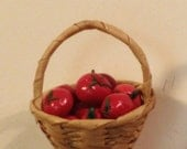 Miniature basket of tomatoes