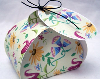 Digital download Wildflower favor box; printable gift box