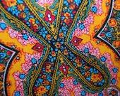 VINTAGE UPHOLSTERY East Indian floral ribbed design.