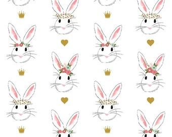 Wonderland Main - By Melissa Mortensen - For Riley Blake - White Bunnies (SC5180) - 9.95 Per Yard