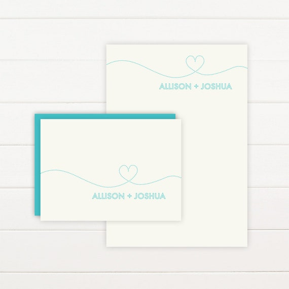 SMITTEN Personalized Stationery + Notepad Set, Personalized Notepad and Personalized Stationary