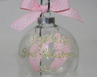 baby's first christmas ornament, Baby ornament, personalized christmas ornament, Birth date, Baby shower gift