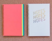 Bright 3-tier Top Bound Gold Foil Notebook // 120 pages // 2015
