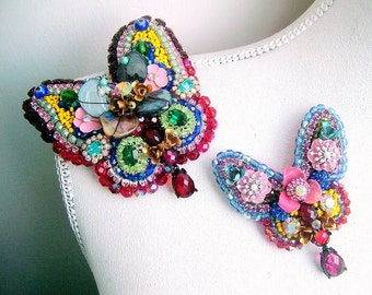 A pair of Butteflies - OOAK Brooches- Ready to ship xx