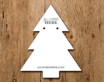 Christmas Tree Shape | Custom Earring Display Cards with Your Logo | DS101