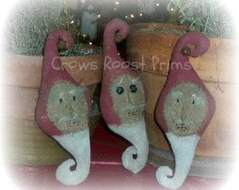 ORNAMENT SANTA Claus Bulb Christmas  198e Crows Roost Prims epattern  immediate download