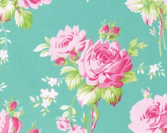 Tanya Whelan, Sadie's Dance Card collection, Rose Bouquet in Jade, LAST 51 Inches