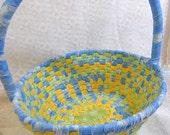 Pastel Oval Easter Rag Basket