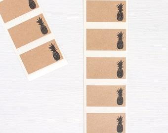 kraft labels - pineapple
