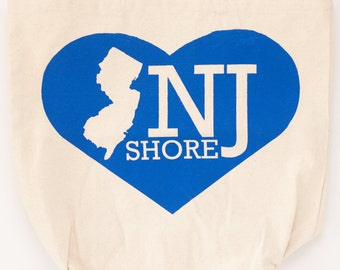new jersey shore tote bag