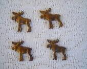 Vintage Oxidized Moose Charms