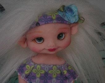 Fairy Fairies Fae pixie elf OOAK Fantasy Art Doll By Lori Schroeder 177DK