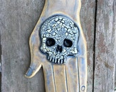 Skull Hand in Opalescent