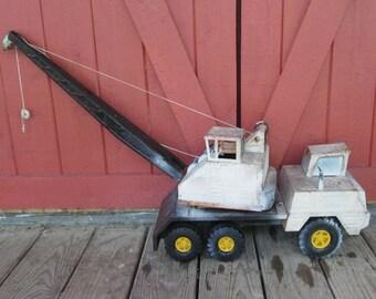 Large Vintage Metal Toy Crane - Pressed Steel Nylint Toy Crane - 1960s