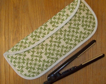 Curling Iron Case // Flat Iron Cover // Insulated // Heat Resistant // For Travel or the Gym