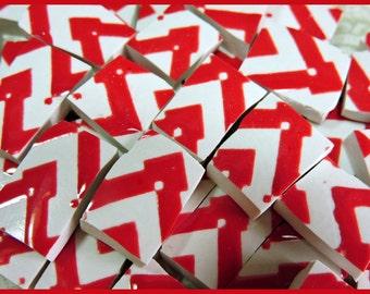 Mosaic Tiles - ReD & WHiTE ZiG ZaG - China Mosaic Tiles
