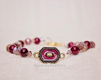Amethyst bead jewelry purple beaded February birthday chic jewelry bracelet