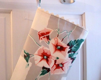 1950s Morning Glory Christmas Stocking