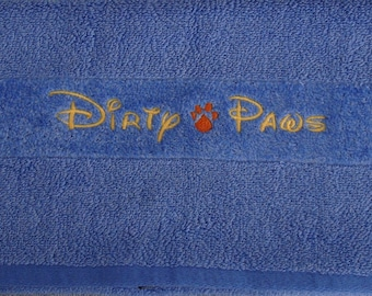 Dirty Paws - Towel for your Furry Friends - ONE Towel- Ready to Ship