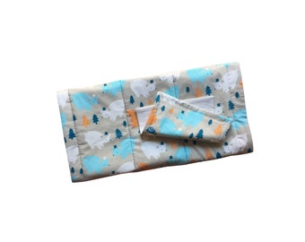 CLEARANCE Organic Quilted Changing Mat Set | Bears