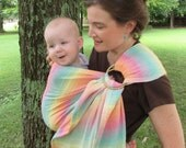 Ring Sling Wrap Conversion Baby Carrier - WCRS - Lenny Lamb Little Herringbone, Imagination - DVD included, baby, toddler, shower gift
