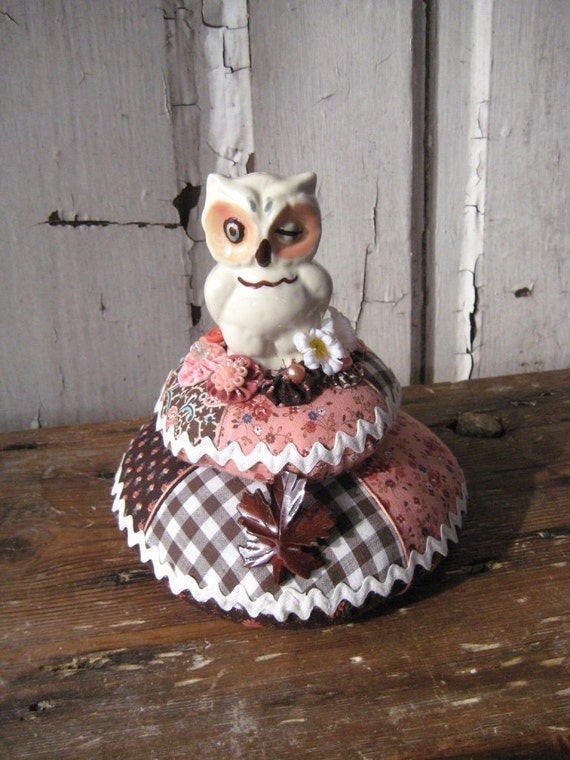 WINKY the OWL Pincushion