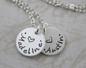 Mother's Day, Name necklace custom hand stamped, custom name, personalized necklace, personalized jewelry minimal necklace, mothers day gift