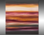Sunset 42 - Abstract Landscape Painting, Original Modern Art Painting, Abstract Canvas Wall Art, Sunrise Sunset, Skyscape