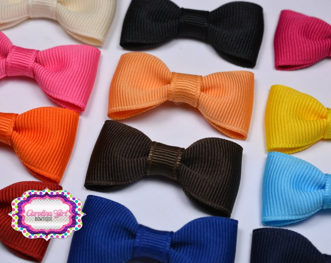 "You Pick 10 -  2"" Hair Bow Tuxedo Bow Simple Bow Boutique Bow for Babies Toddlers Girls Hair Bows Teen Hair Accessory"
