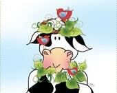 "6"" Square Cow & Friends Art Panel"