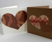 Valentine DIY Kit Animal Prints, Rustic Prints, Browns